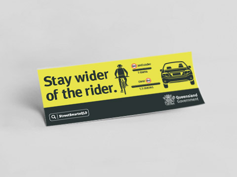 Stay wider of the rider - bumper sticker