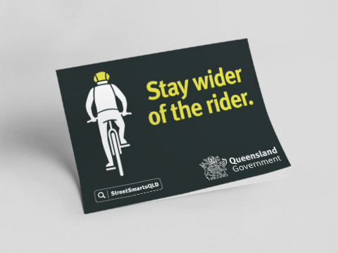 Stay wider of the rider - fold-out flyer