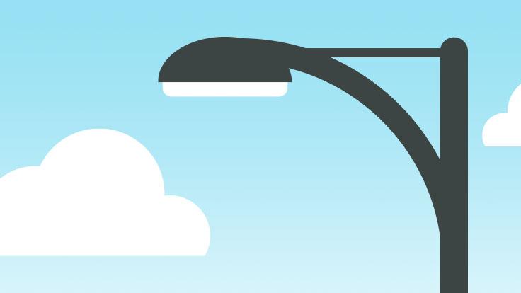 Illustration of a street light
